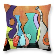 Empty Vases Throw Pillow by Anthony Falbo
