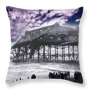 End Of The Pier Show Throw Pillow