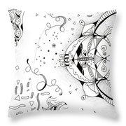 Endless Flow Throw Pillow