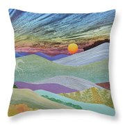 English Downs In Late Autumn Throw Pillow