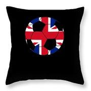 English Soccer Design British Flag Soccer Ball Throw Pillow
