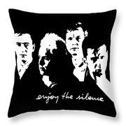 Enjoy The Silence Throw Pillow