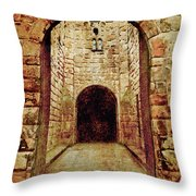 Enter Medieval Throw Pillow