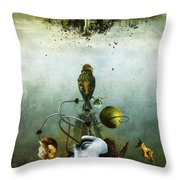 Ephemeral Architecture Throw Pillow