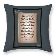 Ephesians 1 3 Throw Pillow