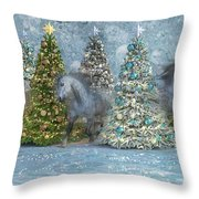 Equine Holiday Spirits Throw Pillow