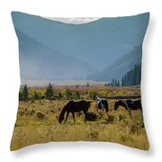 Equine Valley Throw Pillow
