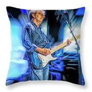 Eric Clapton Slowhand Throw Pillow