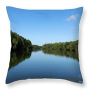 Erie Canal In Early Autumn Throw Pillow