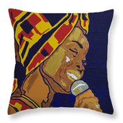 Erykah Badu Throw Pillow