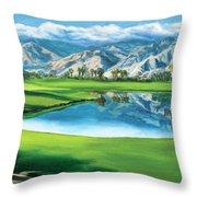 Escena Golf Club Throw Pillow