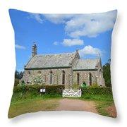 Escot Church Throw Pillow