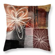 Espresso Flower 2- Art By Linda Woods Throw Pillow
