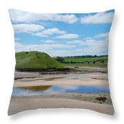 estuary on river Aln at Alnmouth Throw Pillow