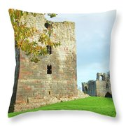 Etal Castle Tower And Gatehouse Throw Pillow