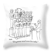 Even Less Tuba Throw Pillow