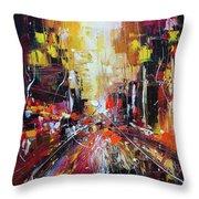 Evening Avenue Throw Pillow
