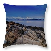 Evening In Tromso Throw Pillow