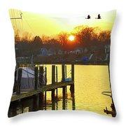 Evening Light Bidding Goodnight Throw Pillow
