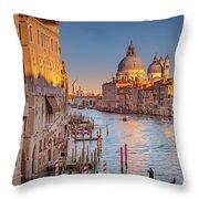 Evening Light In Venice Throw Pillow by Susan Leonard