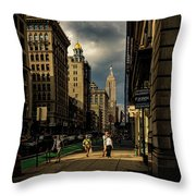 Evening On Fifth Avenue Throw Pillow by Chris Lord