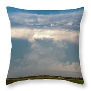 Evening Supercell And Lightning 012 Throw Pillow