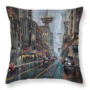Evening Traffic II Throw Pillow