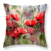 Everything About Poppies Throw Pillow