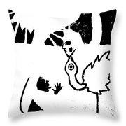 Evolution Of Flamingo Poster 14 Throw Pillow