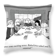 Exciting News Throw Pillow