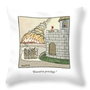 Executive Privilege Throw Pillow