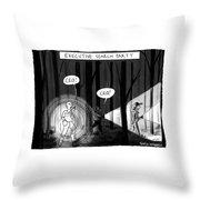 Executive Search Party Throw Pillow