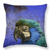 Blue Exotic Parrot- Pirates Of The Caribbean Throw Pillow