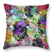 Experiment With Abstract Throw Pillow