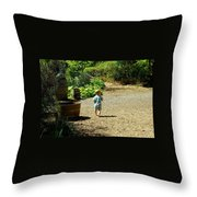 Explore, Edgefield Garden Throw Pillow