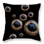 Eyes Have It Black Throw Pillow