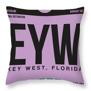 Eyw Key West Luggage Tag I Throw Pillow