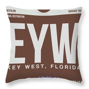 Eyw Key West Luggage Tag II Throw Pillow