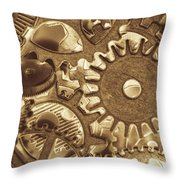 Factory Settings Throw Pillow