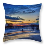 Fading To The Blue Hour - Ferris Wheel Throw Pillow