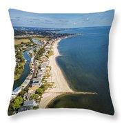 Fairfield Beach Connecticut Aerial Throw Pillow