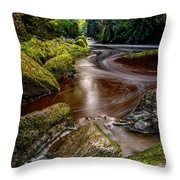 Fairy Glen Gorge Throw Pillow