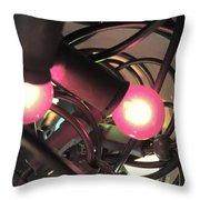Fairy Lights Close Up Throw Pillow