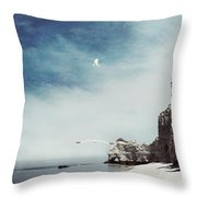 Falaise D'amont - Etretat - France Throw Pillow