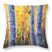 Fall Aspen Iv Throw Pillow