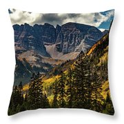 Fall At Maroon Bells Throw Pillow