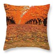 Fall Cherry Trees Throw Pillow