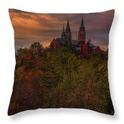 Fall Clouds Over Holy Hill Throw Pillow