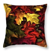 Fall Is On The Ground Throw Pillow