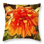 Fall Mums Throw Pillow